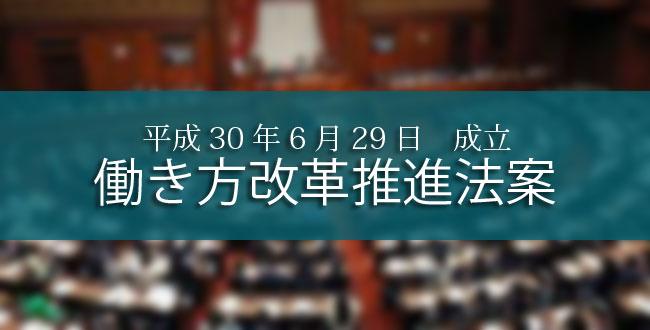 働き方改革法が成立!本改正の3つのポイントとは?